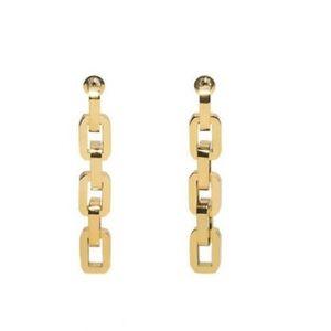 Eddie Borgo Supra Link Chain Gold Earrings